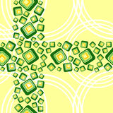Background white circumferences and green square Royalty Free Stock Photos