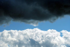 Background with white cloud. And blue sky royalty free stock photography