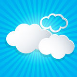Background with white clouds Royalty Free Stock Photography
