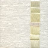 Background from white coarse canvas texture leather with ribbon Stock Images