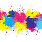 Background white color paint. Vector white watercolor background. Colorful abstract texture. Design elements. Painterly illustration. Vector watercolor splash Vector Illustration
