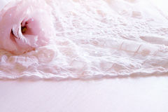 Background of white delicate lace fabric Royalty Free Stock Photo