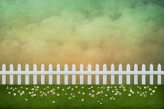 Background with white fence Stock Photo