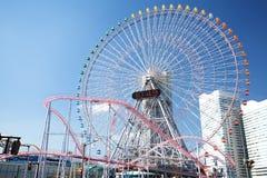 Ferris wheel in blue sky Royalty Free Stock Photos