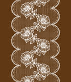 Background with white floral lace Royalty Free Stock Photos