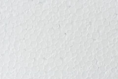 Background of white foamed polystyrene surface Royalty Free Stock Photos