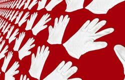 Background - white gloves Stock Images