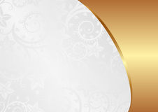 Background. White and gold background with ornaments Royalty Free Stock Image
