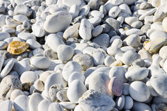 Background with white and gray stones softly rounded Stock Image