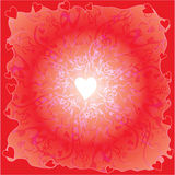 Background with white hearts  Royalty Free Stock Images