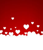 Background with white hearts Stock Photos