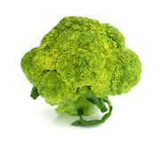 Background white isolated broccoli brocolli diet vegetable raw organic nature vegetables stem fresh health object food vegetari Royalty Free Stock Images