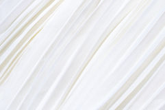 Background of white pleated fabric Royalty Free Stock Photography