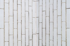 Background of white rectangle brick wall Royalty Free Stock Photography