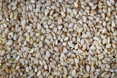 Bunch sesame seeds background royalty free stock image