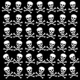 Background with white skulls. Raster. Stock Photos