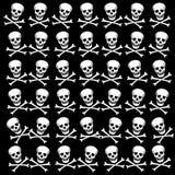 Background with white skulls. Raster. Raster Stock Photos