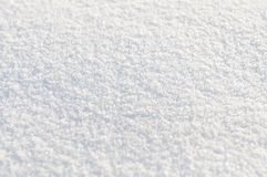 Background from white  snow. Small depth of focus. Center Stock Photo