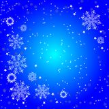 Background of white snowflakes Royalty Free Stock Images
