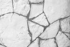 Background of white stone wall texture Stock Photo