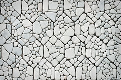Background of white stone wall texture Royalty Free Stock Photography