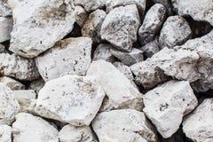 Background of white stones Royalty Free Stock Photo
