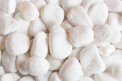 Background of white stones Royalty Free Stock Image