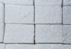 Background of white sugar cubes. Macro Royalty Free Stock Photo