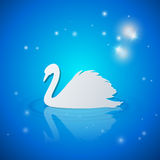 Background with white swan Stock Image