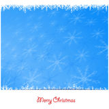 Background of white winter snowflakes for christmas and new year Stock Image