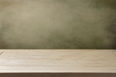 Background with white wooden table Stock Photography