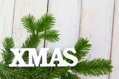 Background - white xmas lettering Royalty Free Stock Photography