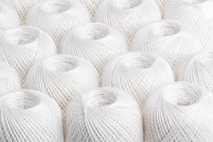 Background white yarn. Texture of colored yarn skeins stock photography
