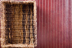 Background with wicker basket Stock Photo