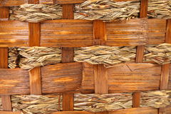 Background of wickerwork. Close up. Royalty Free Stock Photos