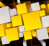 Background wiht 3d cubes. Bright background with 3d cubes and circle Stock Images