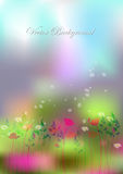 Background wild flowers and butterflies.vector illustration Stock Photo