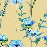 Background of wildflowers. Seamless pattern. Royalty Free Stock Photography