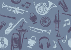 Background with wind musical instruments Stock Photo