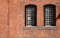 Window in a red brick wall Royalty Free Stock Photography