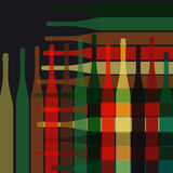 Background wine bottles Royalty Free Stock Photography