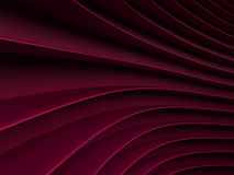 Background of wine-colored abstract waves. render. Background of wine-colored 3d abstract waves. render Stock Photo
