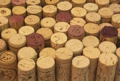 Background of wine corks Royalty Free Stock Photos