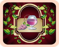 Background for wine design Stock Images