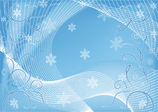 Background with winter blue patterns Royalty Free Stock Images