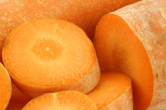 Background of winter carrots Stock Photo