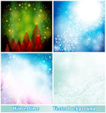Background winter collection Stock Images