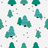 Background with winter forest. Stock Images