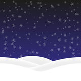Background winter vector. Winter background with snowflakes and snow drifts. Vector, seamless pattern Stock Images