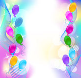 Background wit balloons. Festive background for greeting card Royalty Free Stock Photos
